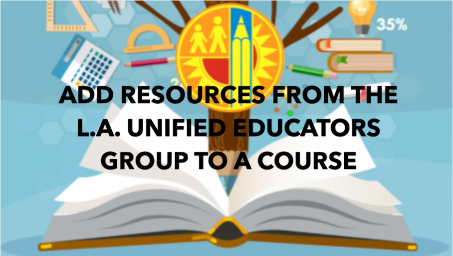 ADD RESOURCES TO SCHOOLOGY COURSE