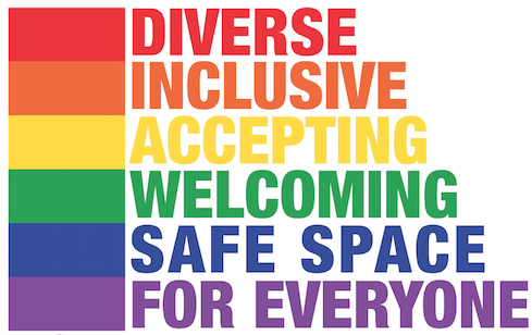 Diverse Inclusive Accepting Welcoming Safe Space for Everyone