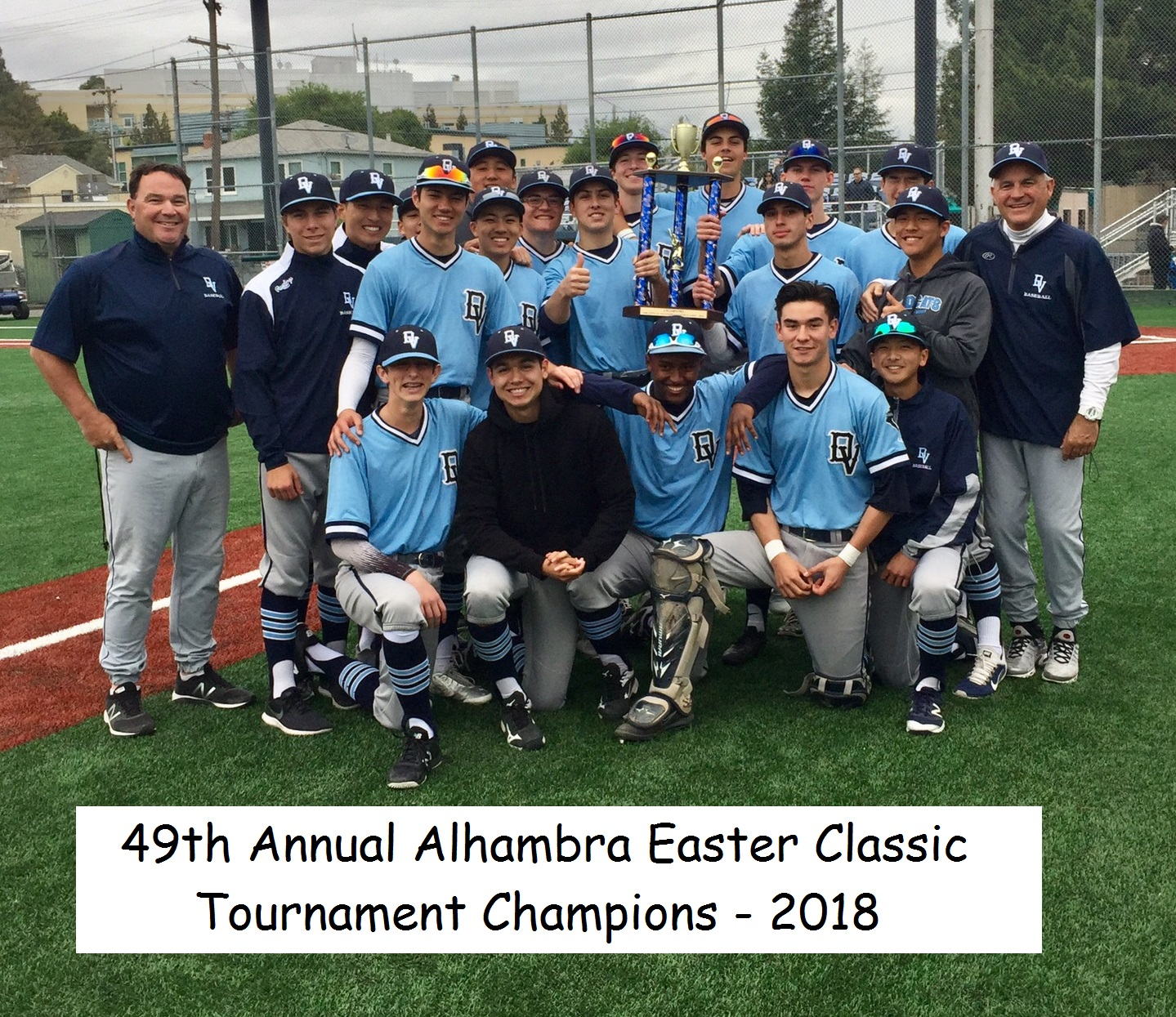 Varsity Baseball Alhambra Tournament Championship group