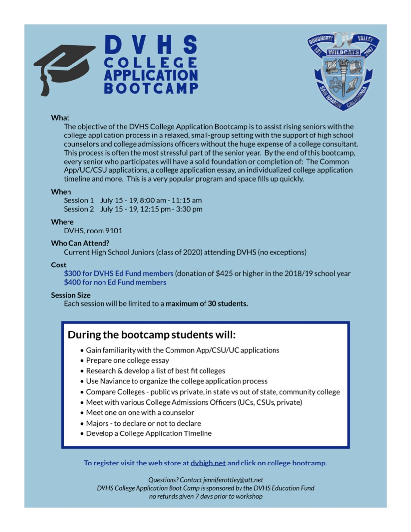 DVHS College Application Bootcamp
