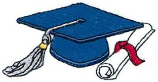 graphic of mortarboard and diploma