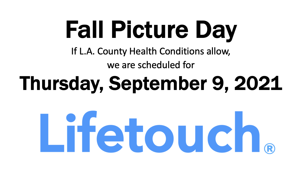 Lifetouch Fall Pic date