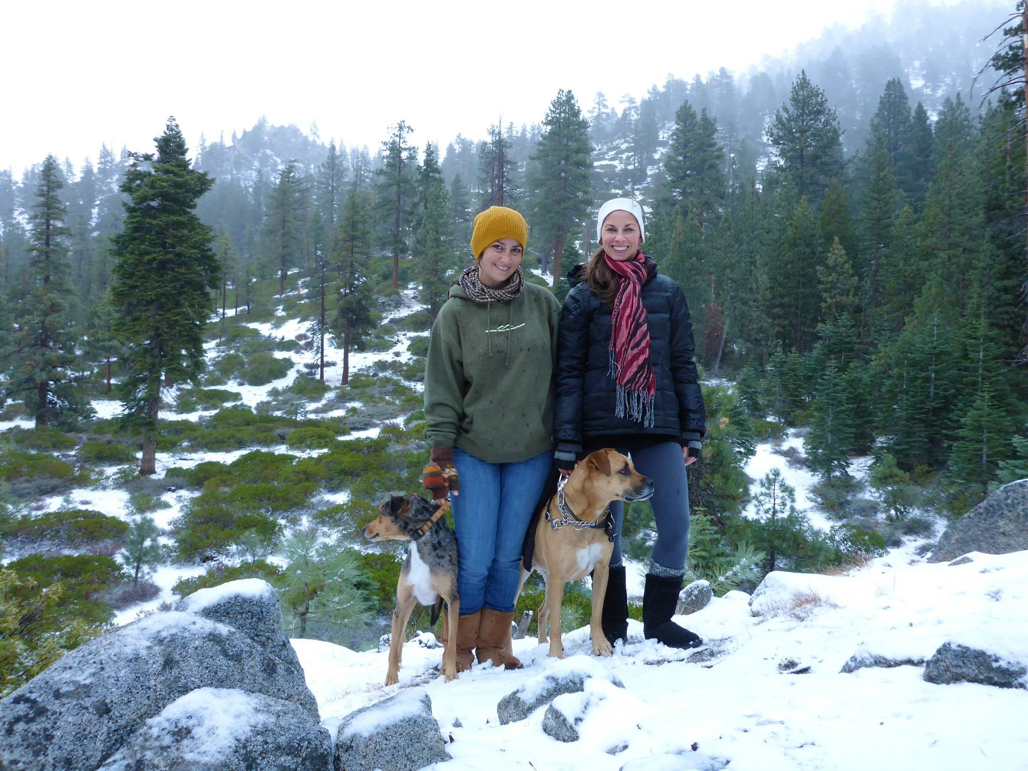 My Sister and I With Our Dogs