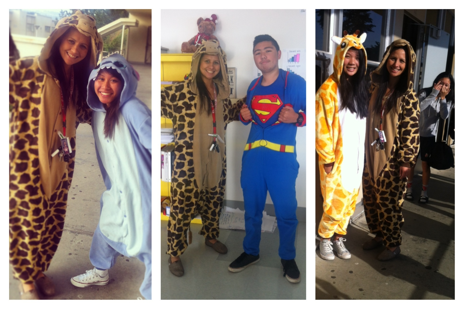 Pajama Day with some students in Onesies