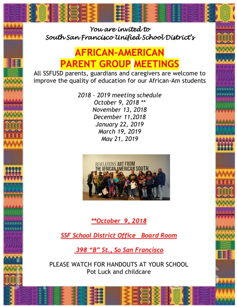 afrcan american parent group meeting times