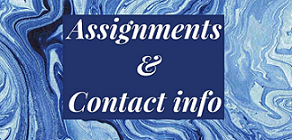 assignments and contact info