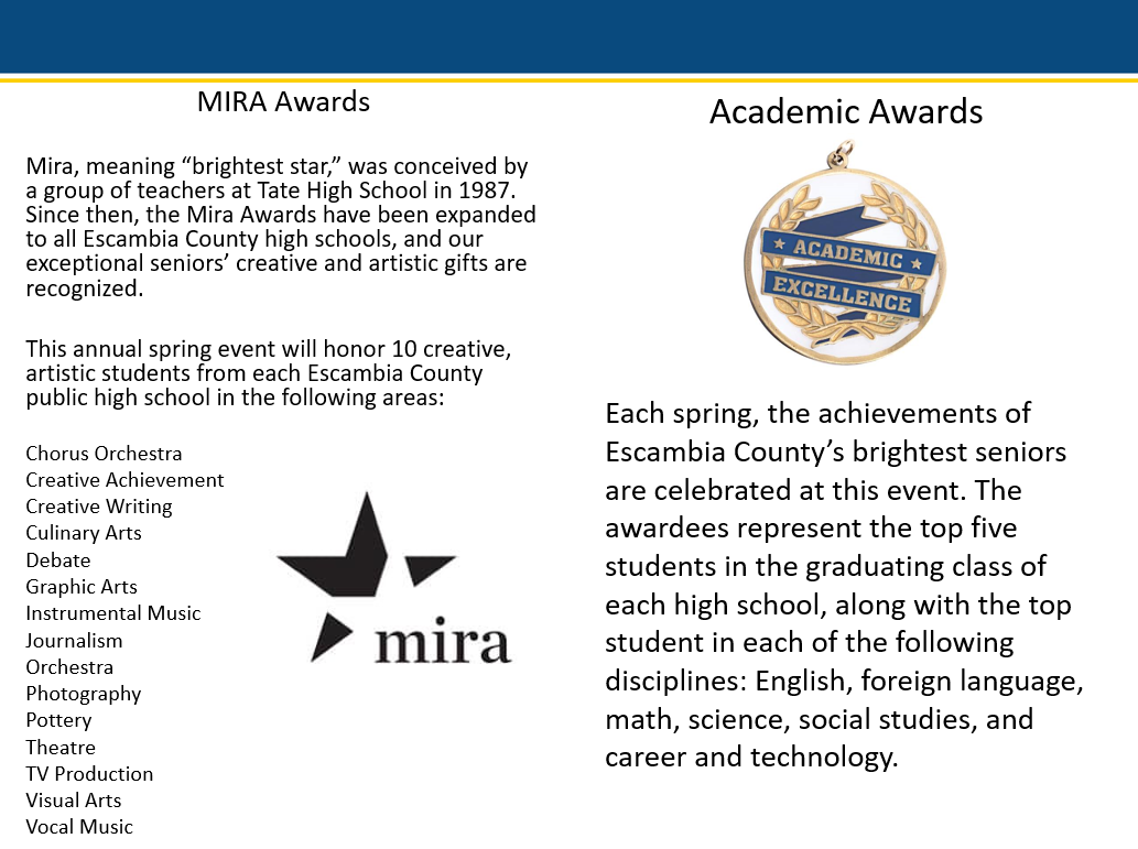 MIRA and Academic Awards Information