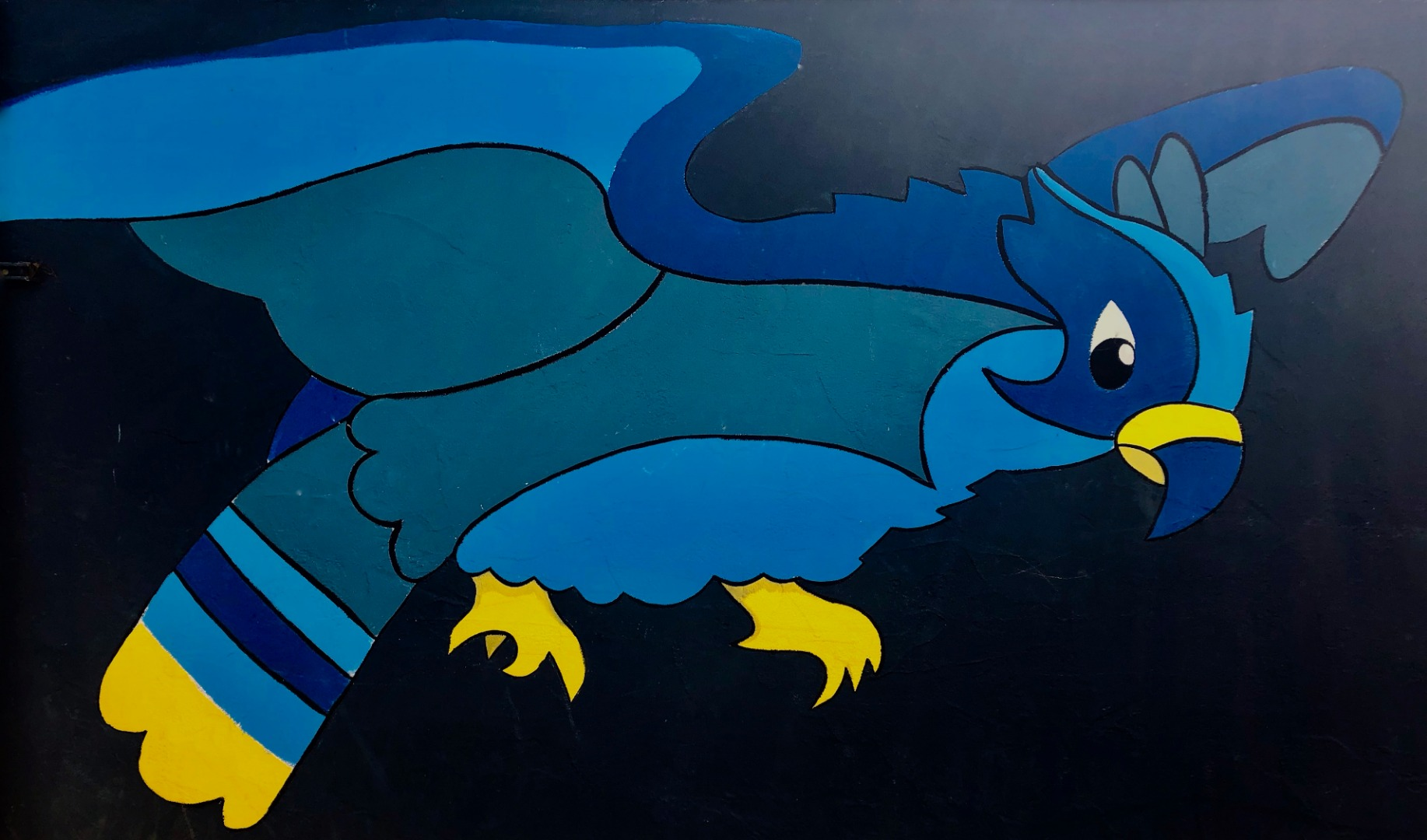 Falcon Mural Painting seen on campus