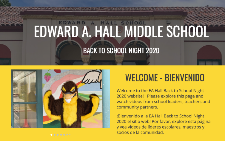 EAH Back to School Night Website Link