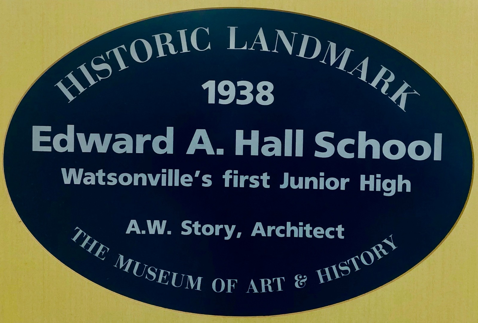 Historic Landmark, 1938 Edward A. Hall School