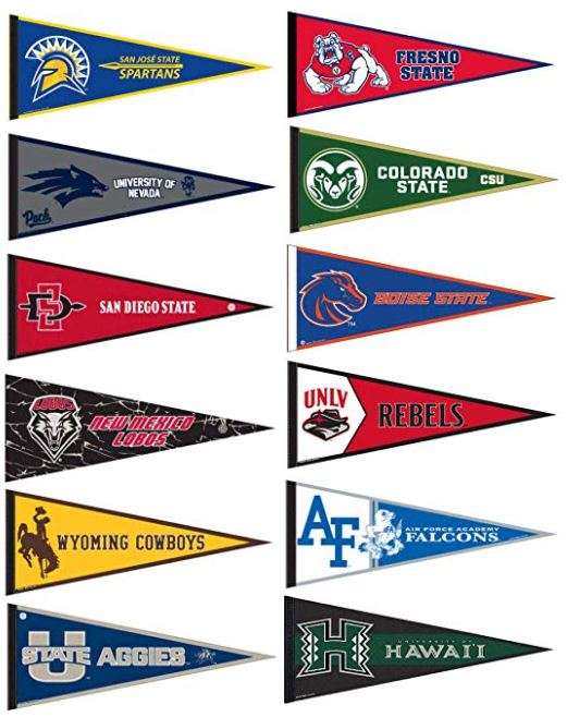 Mountain West College Pennants