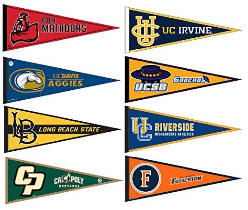 Big West College Pennants