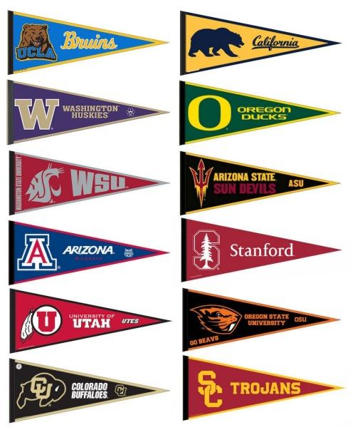 PAC 12 College Pennants