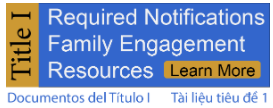 Title I required notifications, family engagement resources, learn more