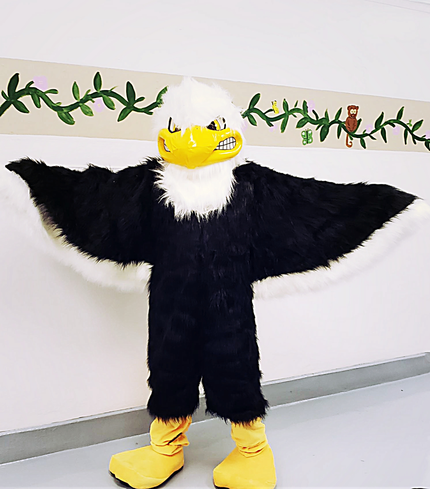 Introducing the newest member of the Enon faculty, Eagle Mac, our new mascot!!