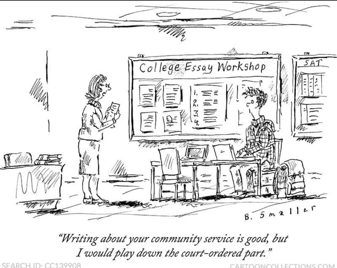 cartoon about community service