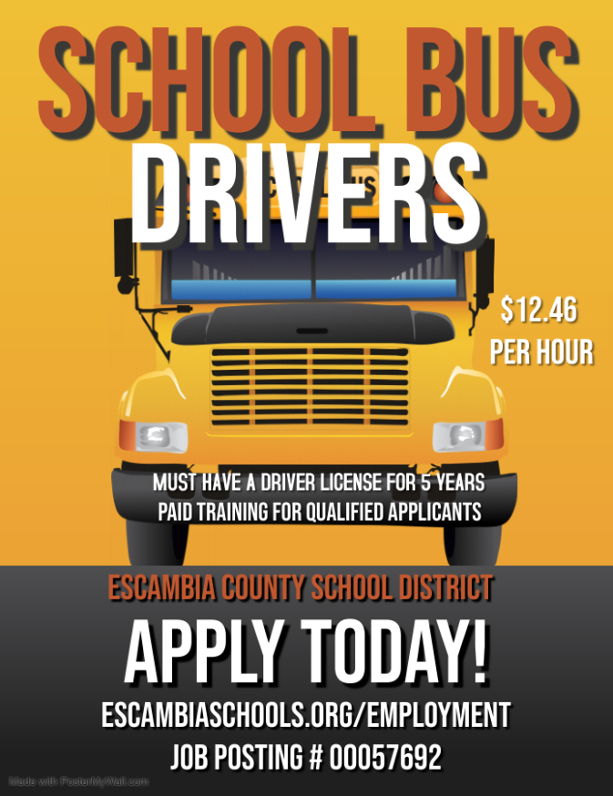 School Bus Drivers Wanted at $12.46 per hour