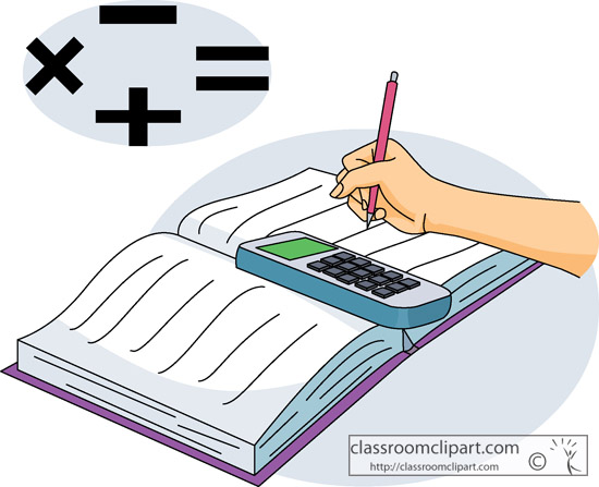 math book with calculator graphic