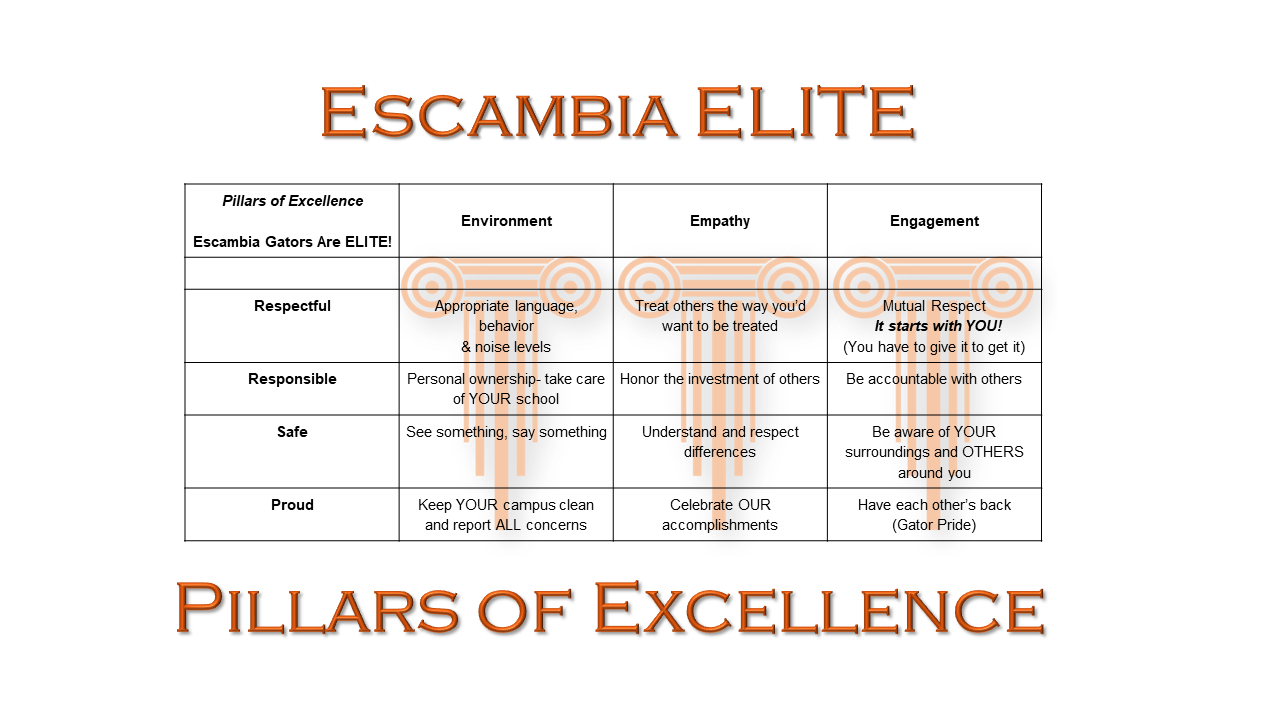 Pillars of Excellence