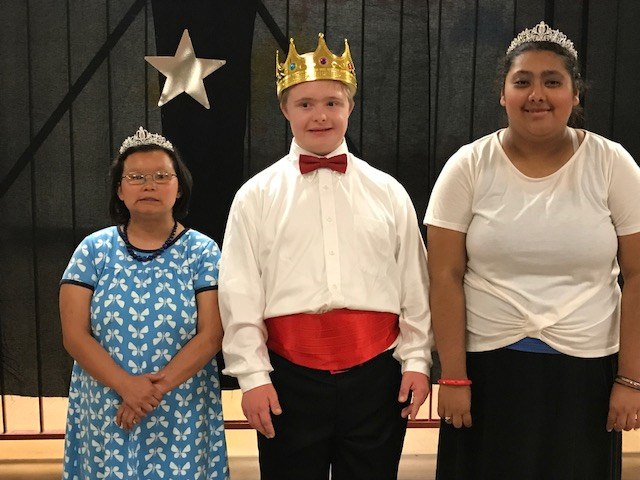 Prom court from A Look Back In Time Prom 2017