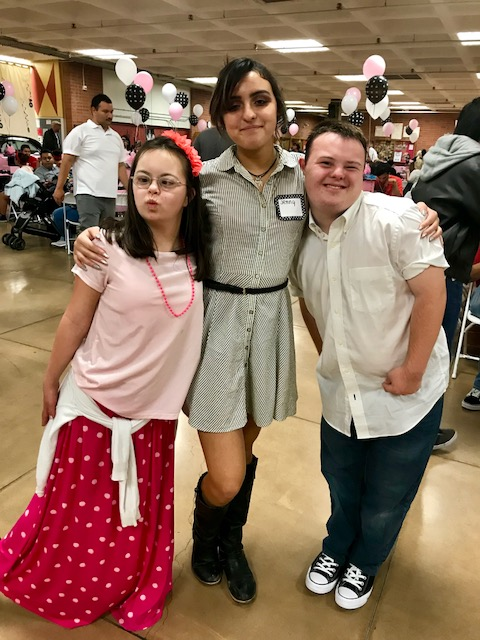 One of the prom court members from the Fabulous 50 s prom 2018