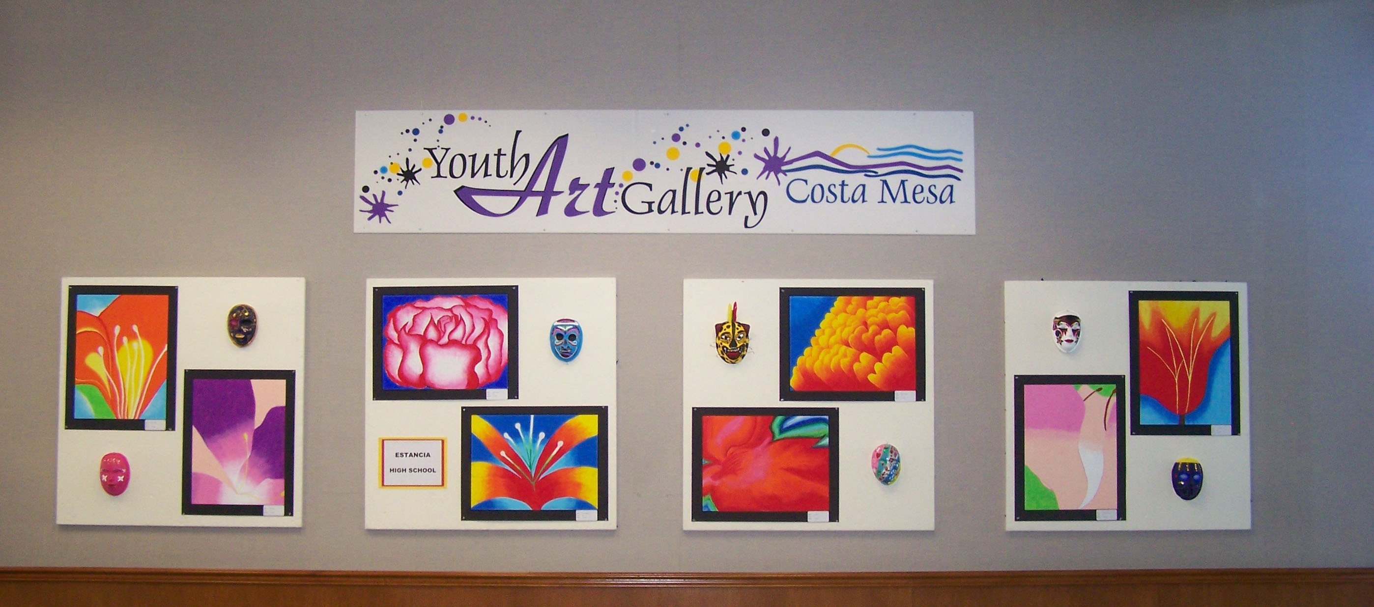 Student artwork displayed at City Hall