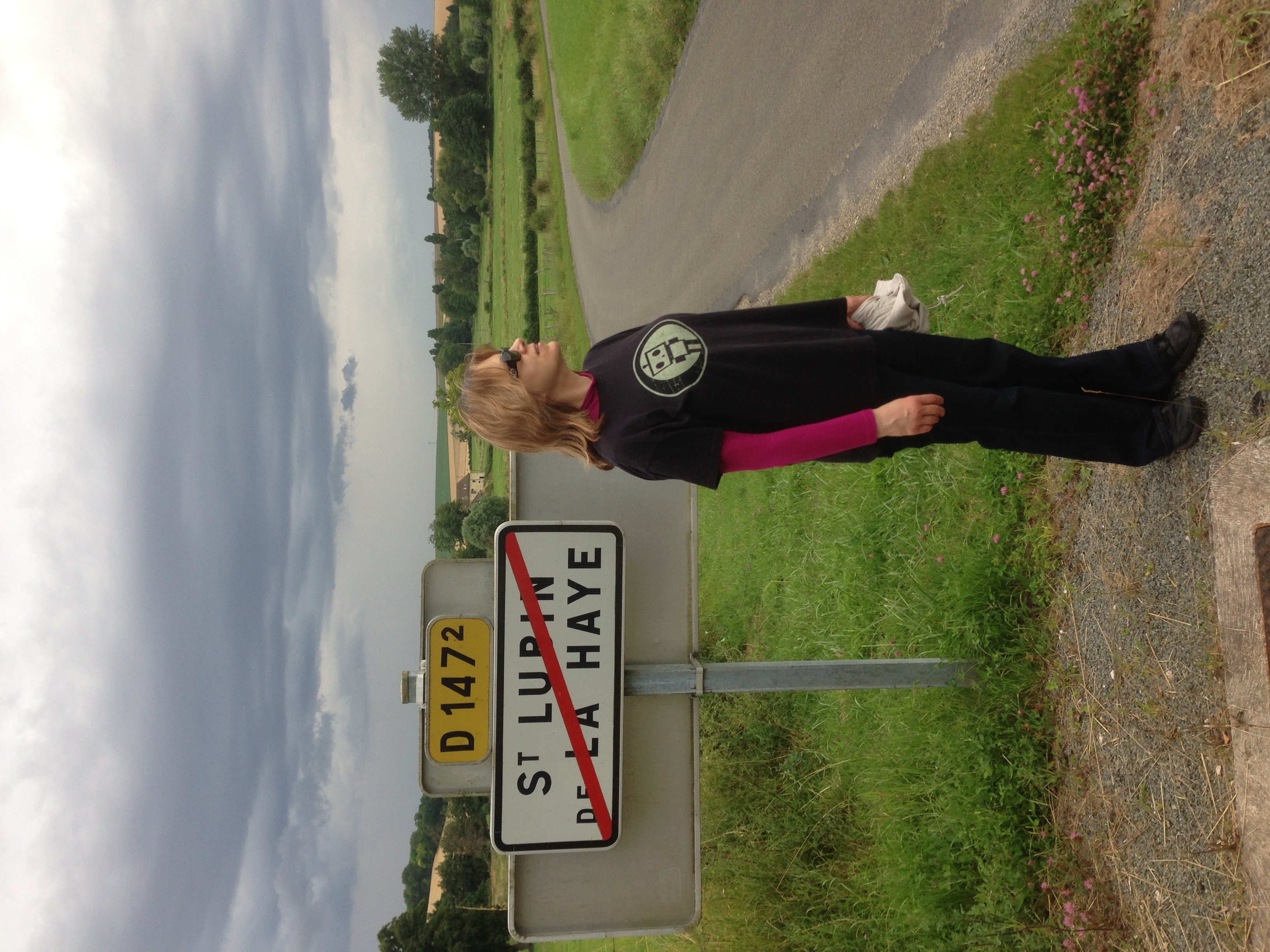 Me on a trip to France...Can you guess what this street sign means?