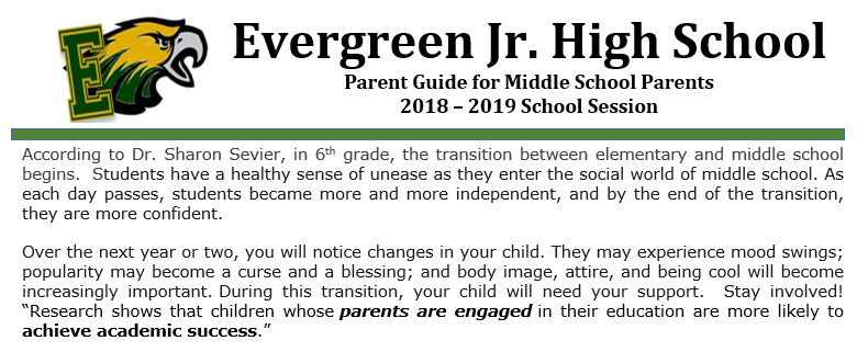 Parent Guide opening paragraph