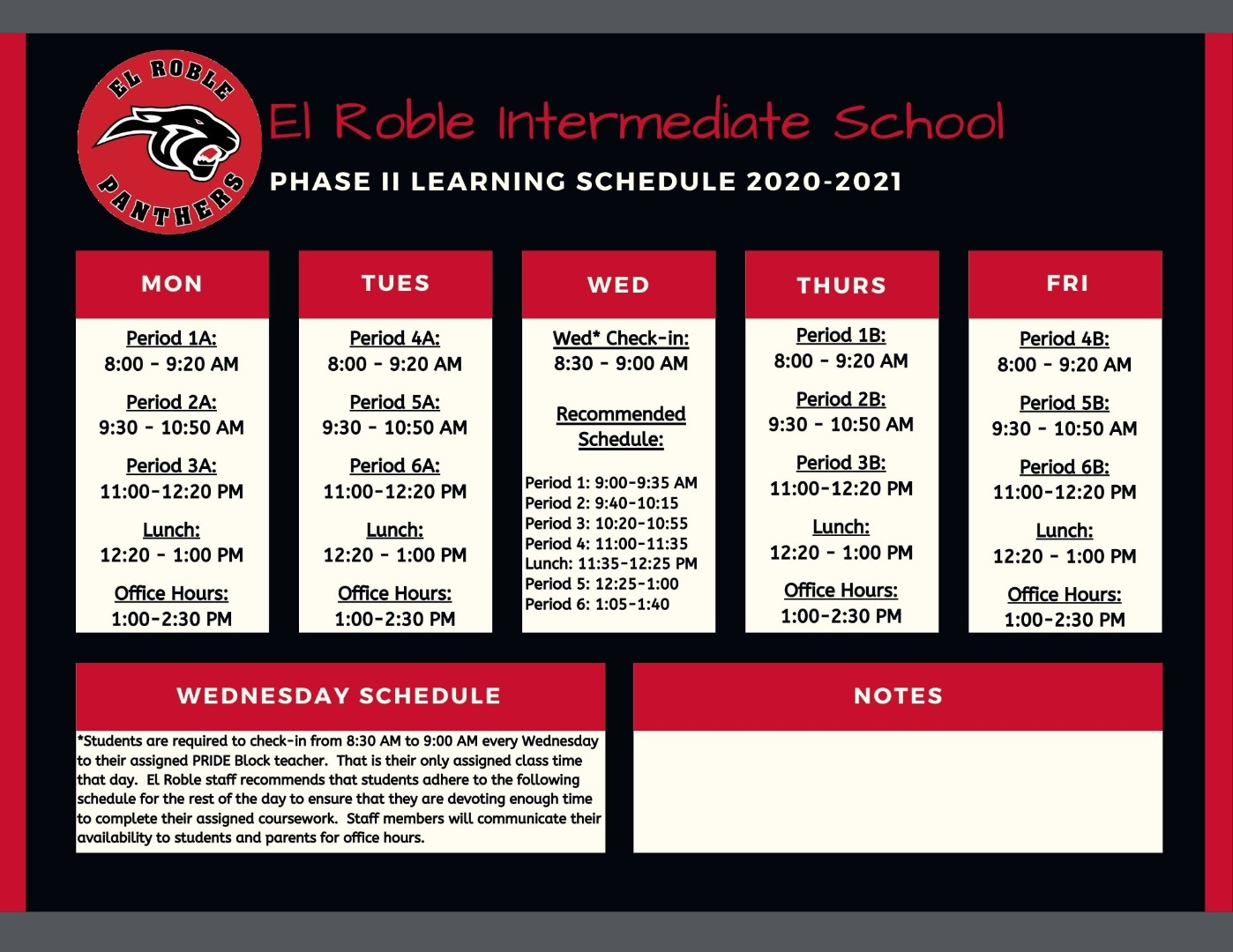 Phase II Bell Schedule