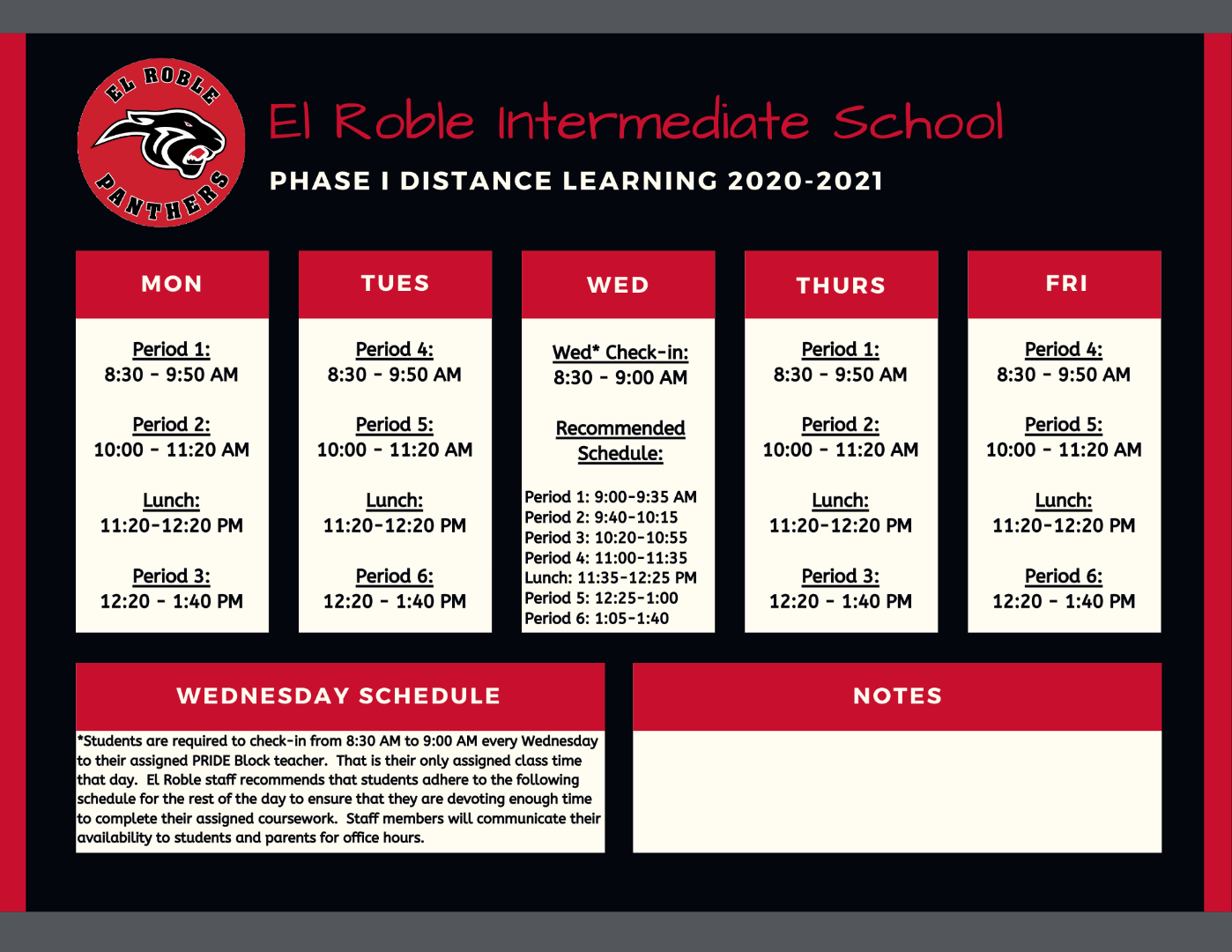 Phase I Bell Schedule