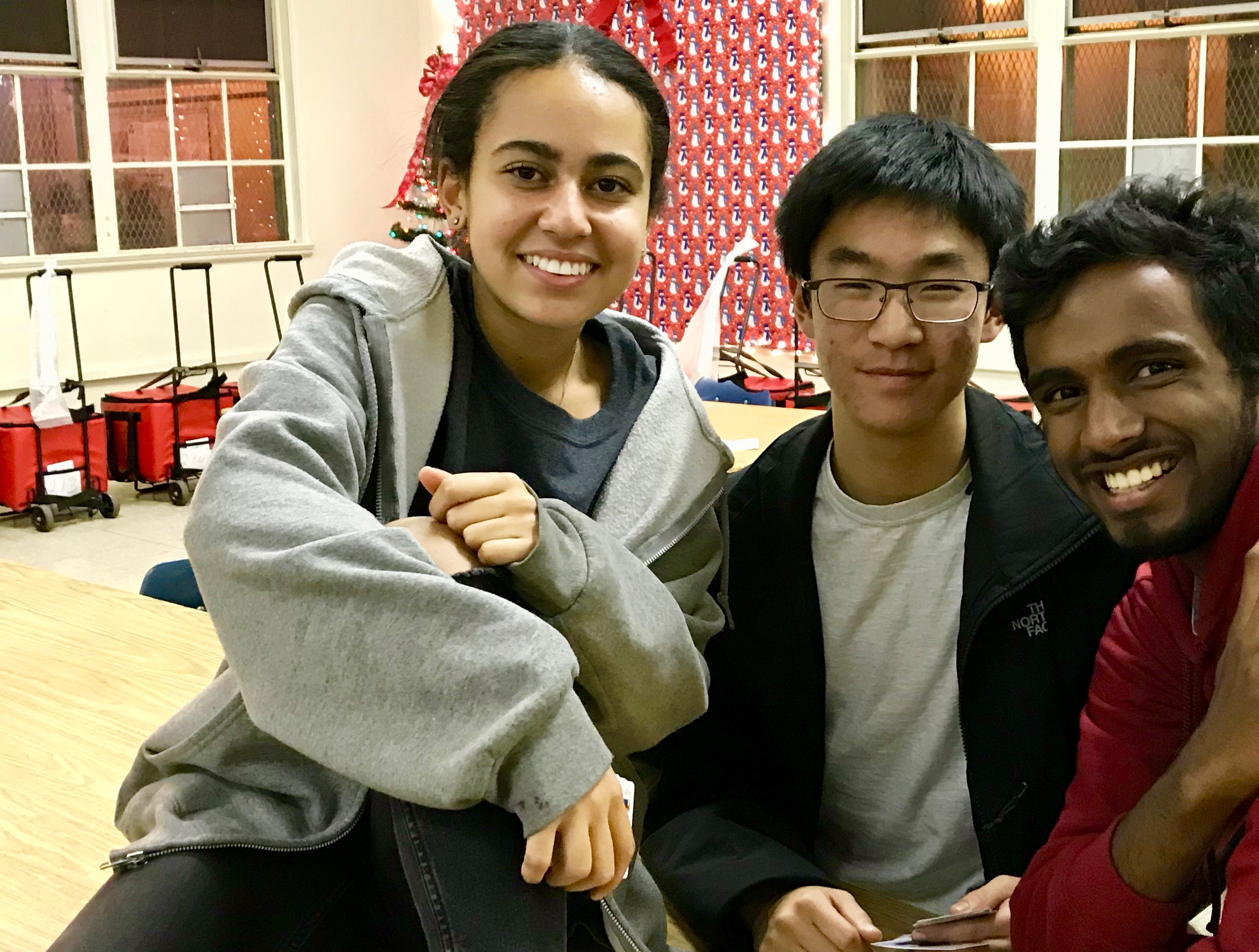 Harvard Westlake mentor, Alexandria Ankai with Pradeep and Matthew