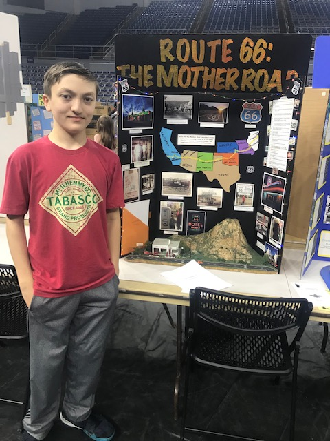 Louie Woods at the State Social Studies Fair