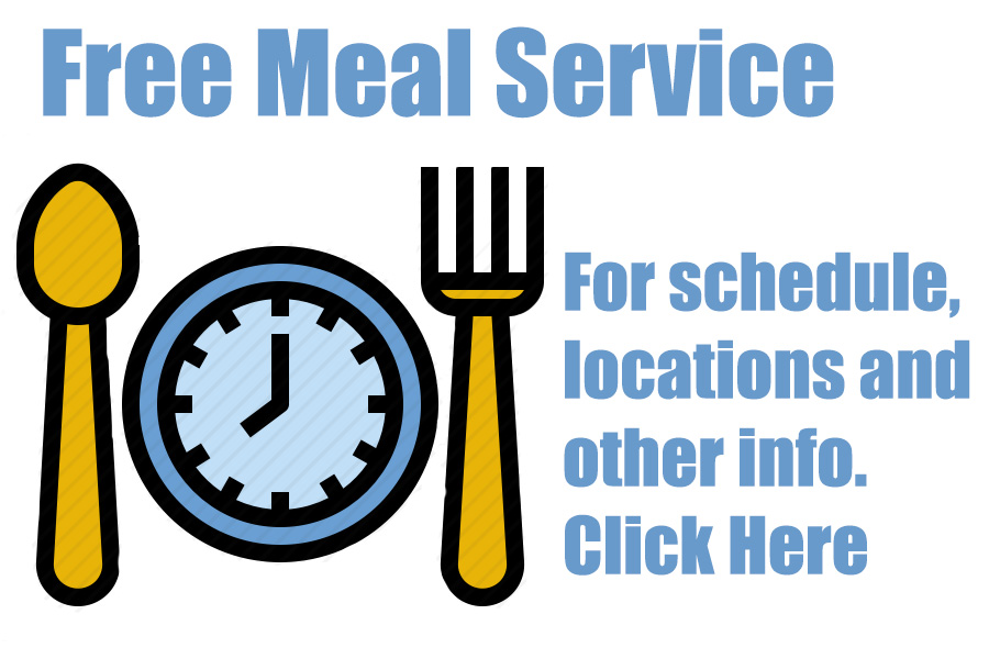 spoon and fork with text free meal information