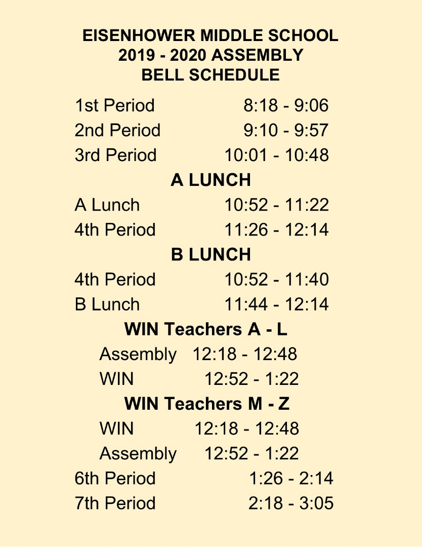 jpeg document of assembly bell schedule