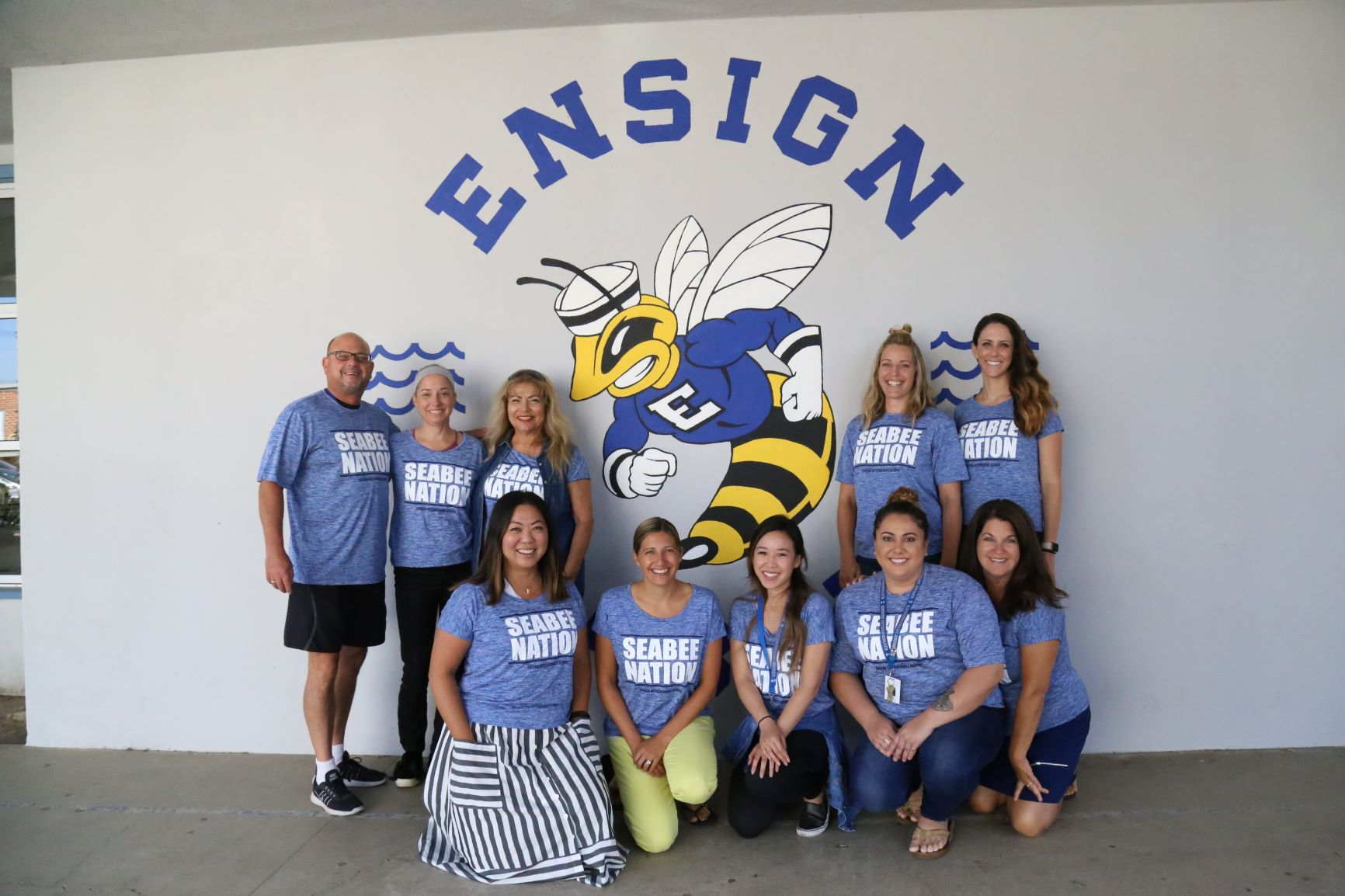 Ms. Tum with the Ensign English Department