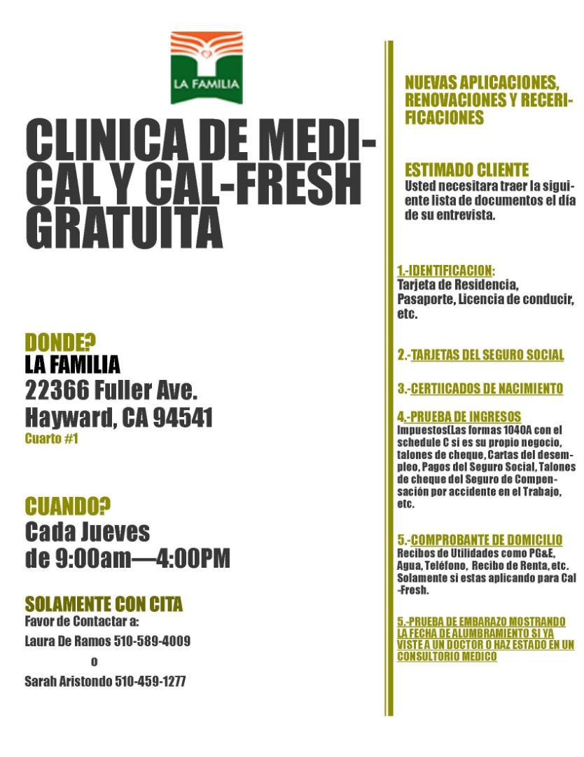 Medical and Cal-Fresh Clinic