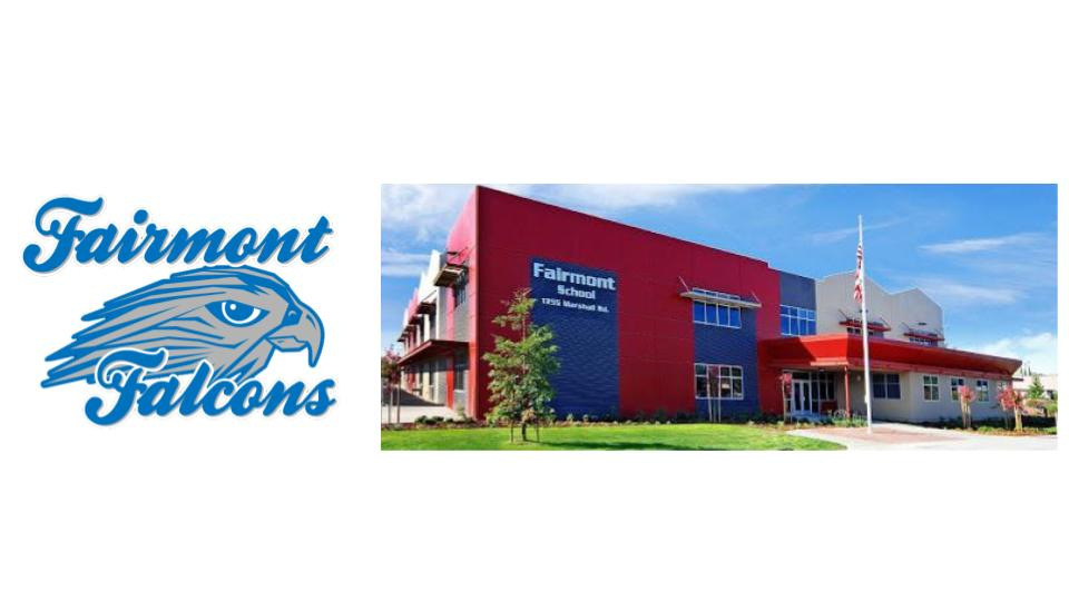 Fairmont Falcons Logo and School Photo