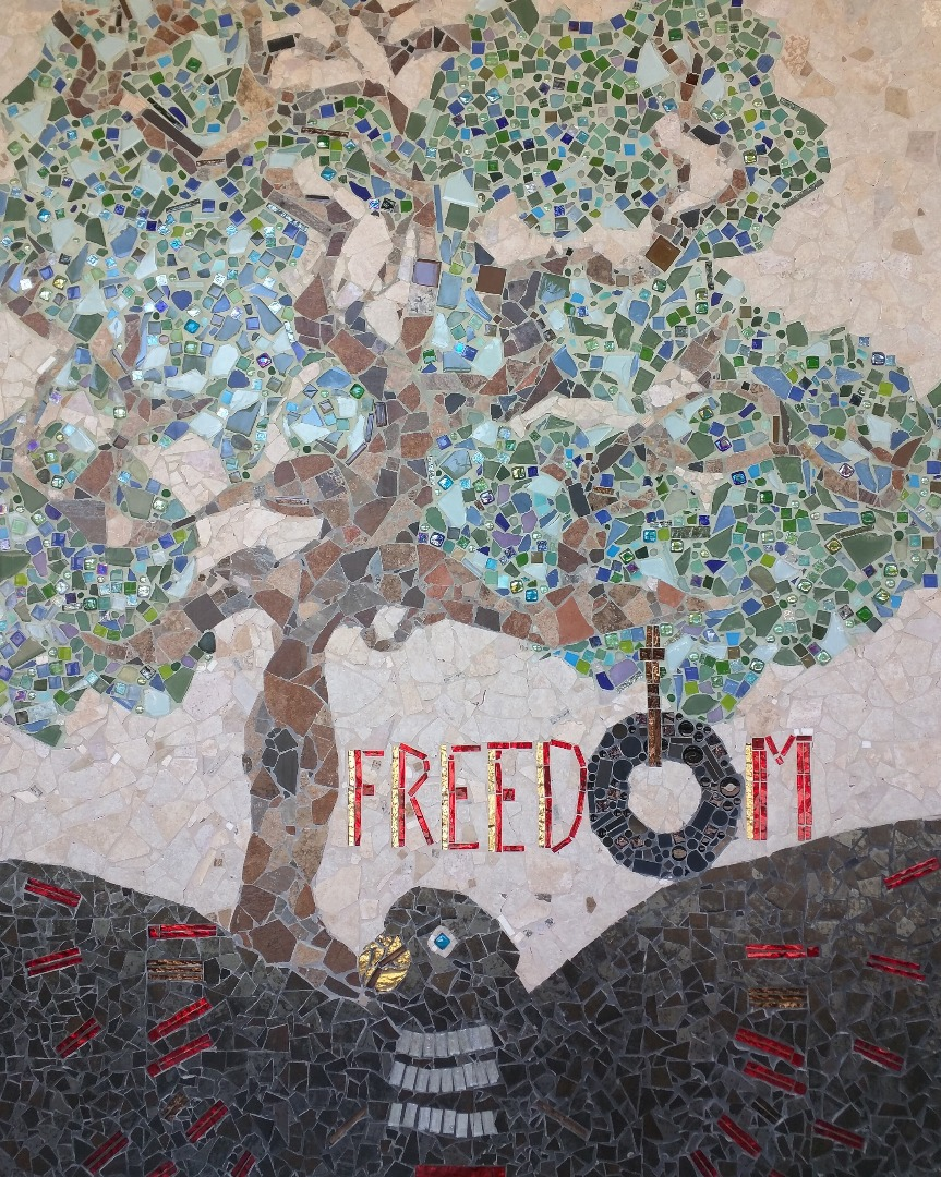 Freedom Tree mosaic