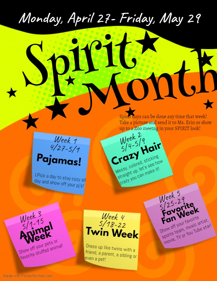 Spirit Month, next week Fan Favorite Week