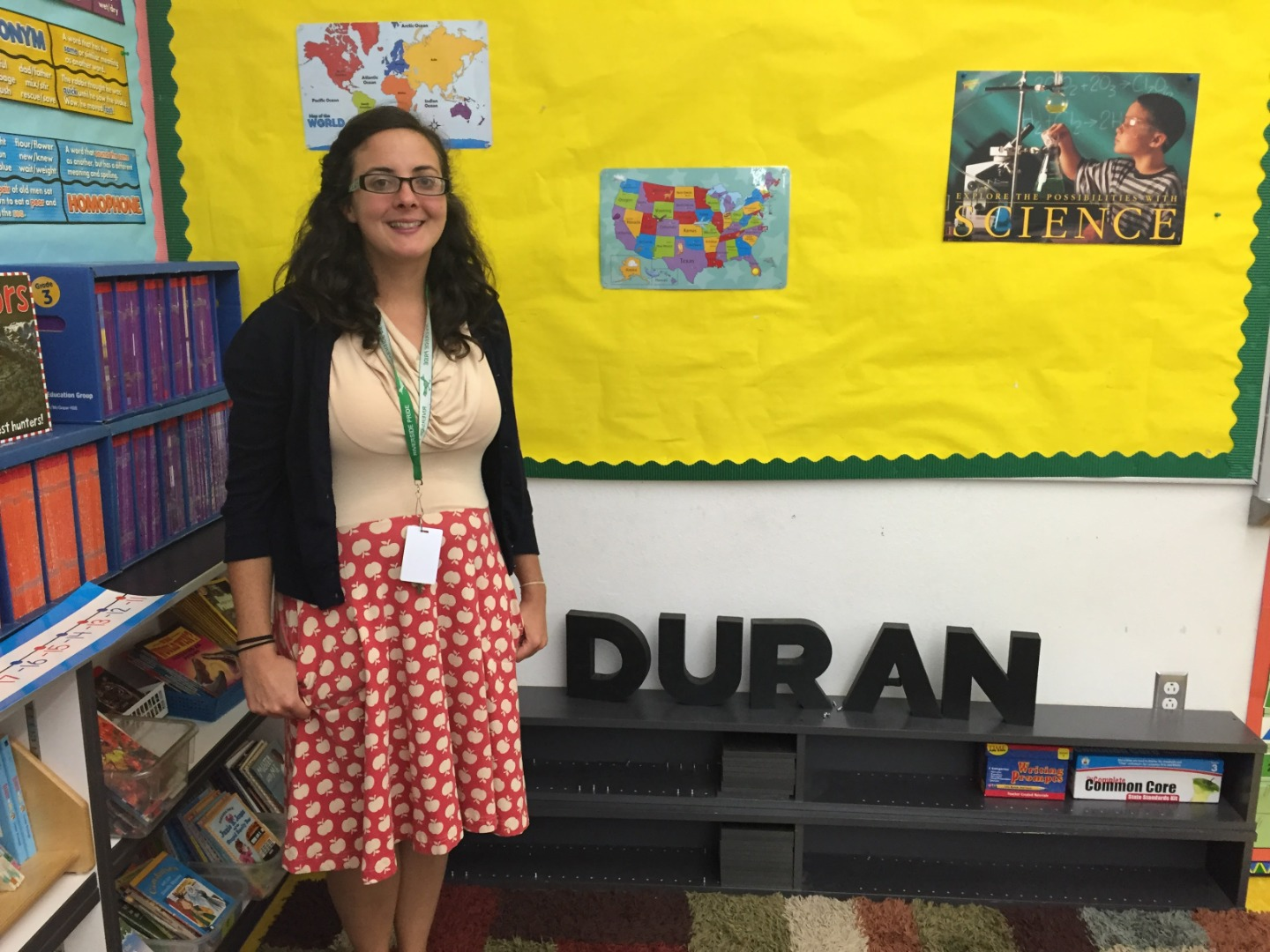 Ms. Duran in a classroom