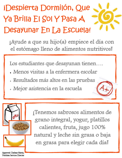 Breakfast Flyer (Spanish)