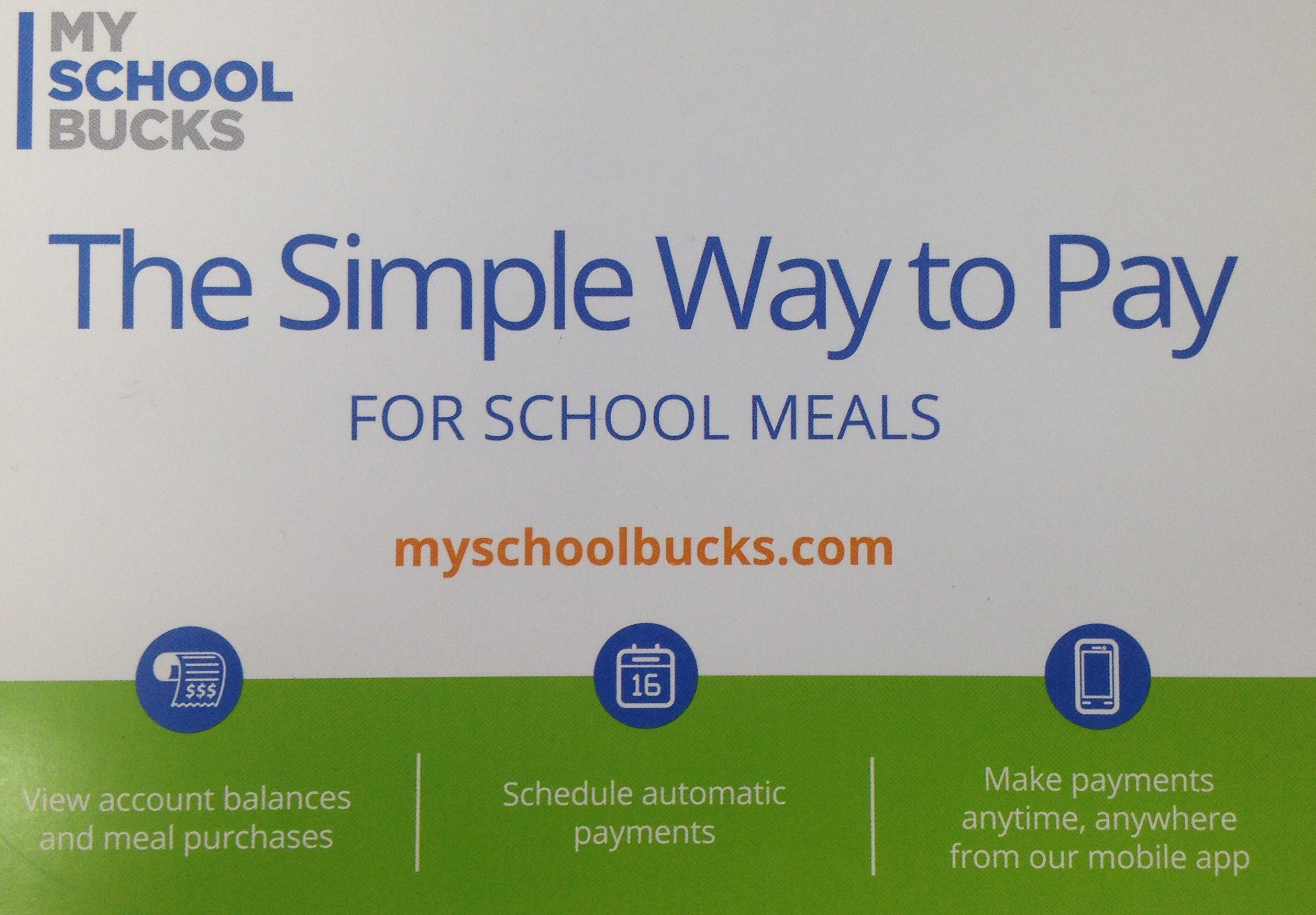 My School Bucks... the Simple Way to Pay