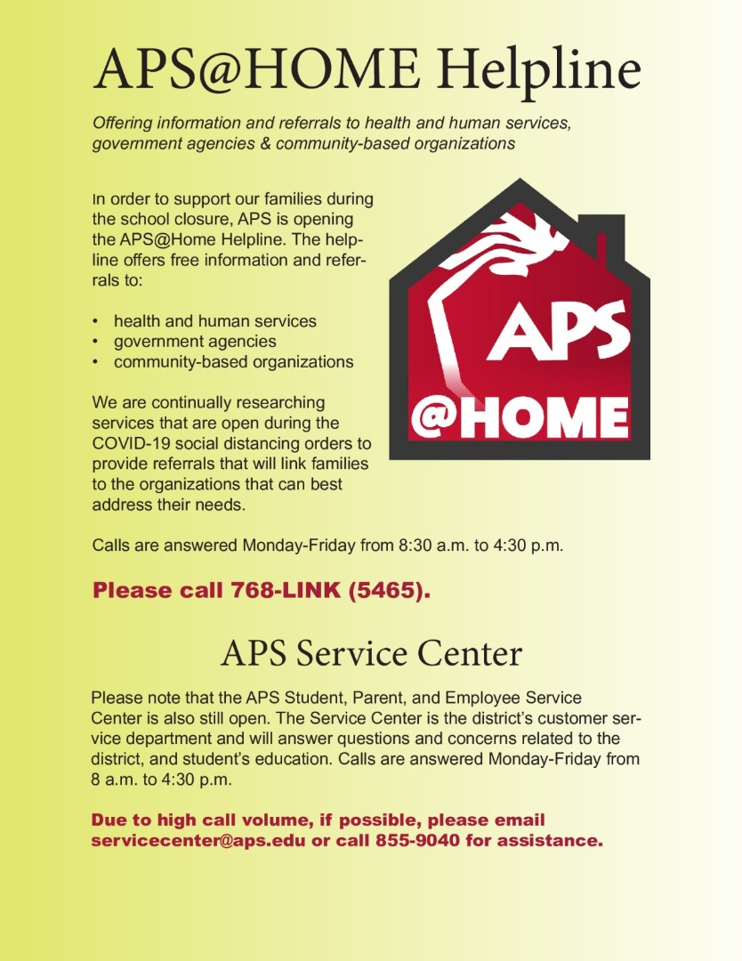 APS@Home Helpline