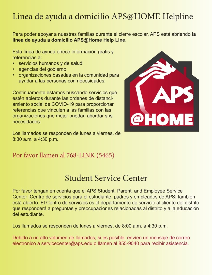 APS@Home Helpline Spanish
