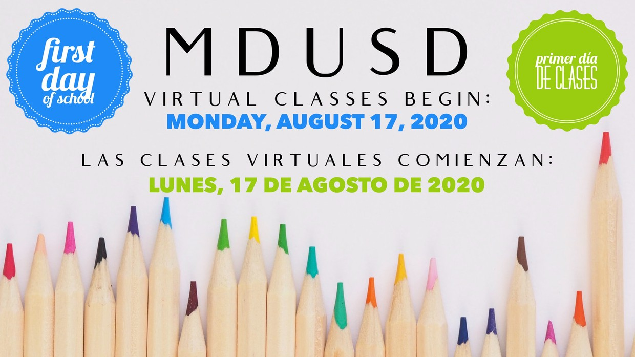 Virtual Classes begin August 17, 2020