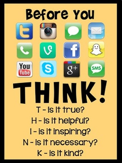 Before you post on social media, think!