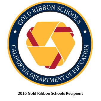 2016 Gold Ribbon Schools Recipient