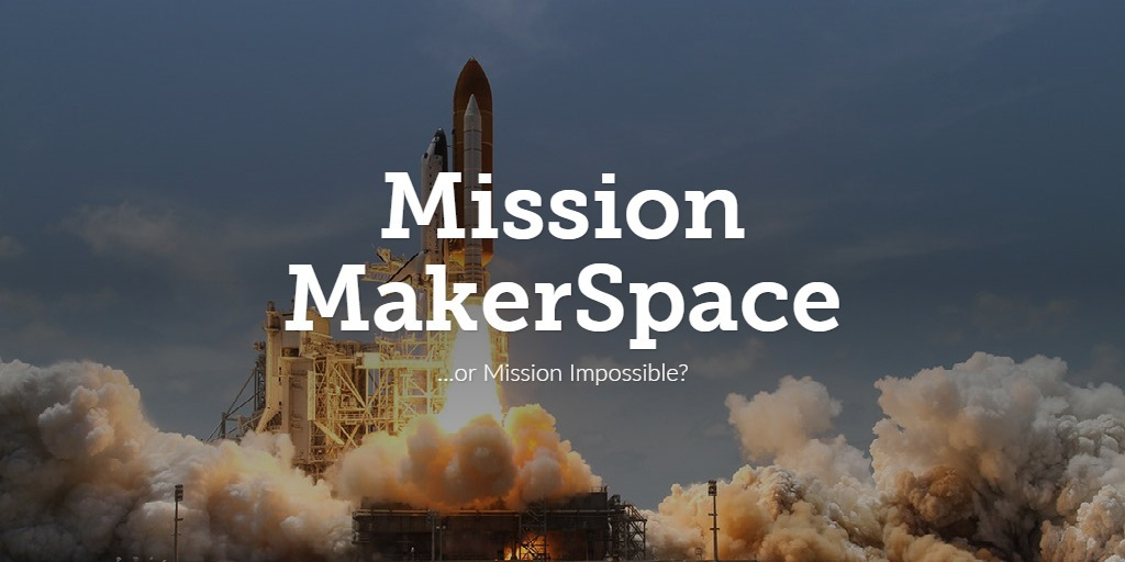 Mission Makerspace image of rocket launching