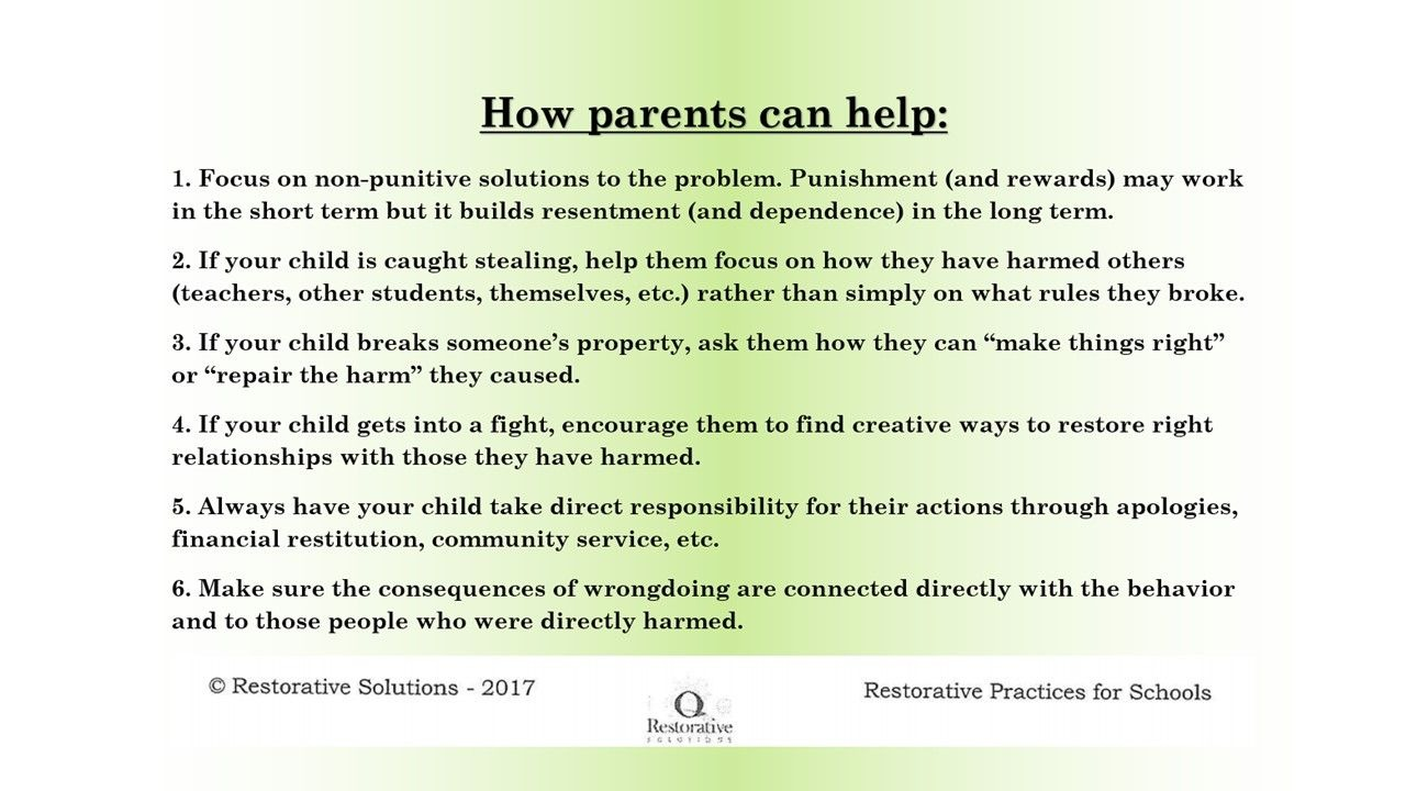 How parents can help