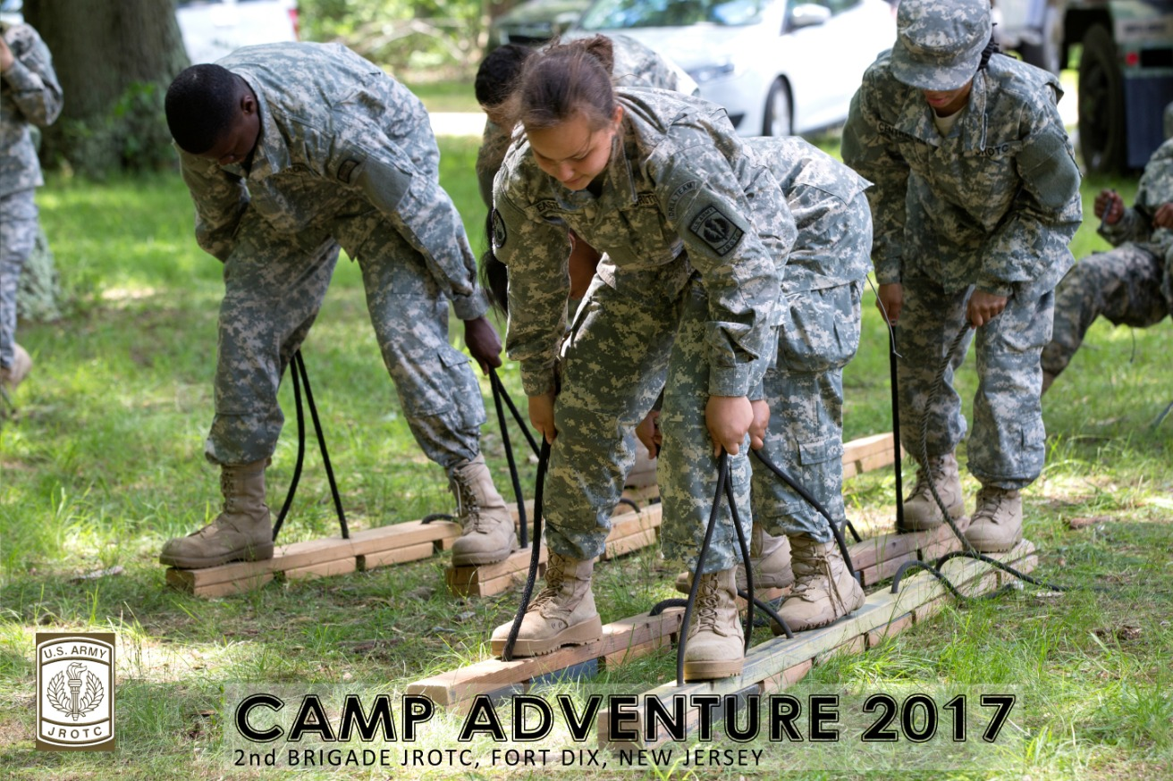 Cadets exercise in full gear at the Army Training Camp.